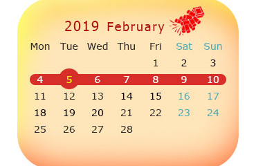 Chinese New Year 2019: Dates & Calendar